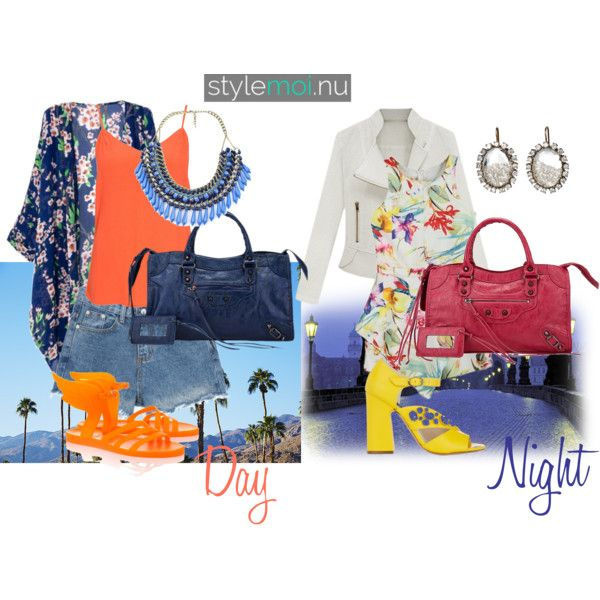 night and day by baebaoni-bijoux on Polyvore featuring moda, VILA, Ancient Greek Sandals, Giulietta, Renee Lewis and H&M