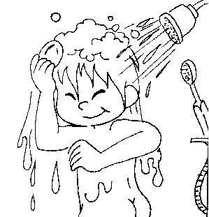 body hygiene coloring pages   El Rincón De La Educadora Preescolar: HABITOS DE HIGENE Y ...