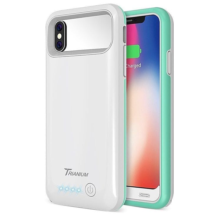 Iphone X Battery Case 4000Mah Portable Charging Cover-Extended Power Bank White #DealsToday