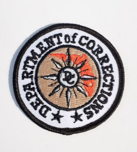Embroidered-Department-of-Corrections-Prison-Badge-DC-USA-VGC