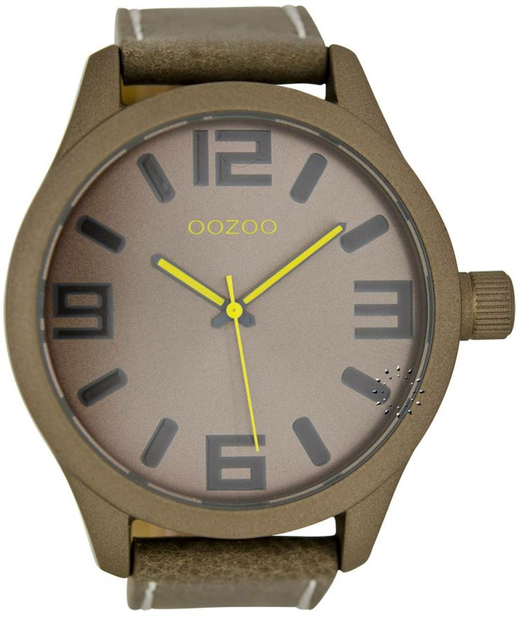 OOZOO Large Τimepieces Brown Leather Strap Μοντέλο: C6270 Η τιμή μας: 69€ http://www.oroloi.gr/product_info.php?products_id=36164