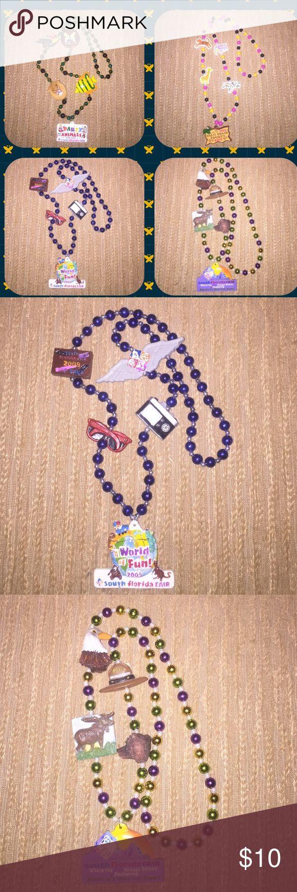 4 Unique South Florida Fair Mardi Gras Beads!!! 4 Unique South Florida Fair Mardi Gras Beads!!! Jewelry Necklaces