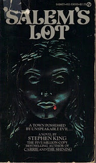This was my introduction to Stephen King. The cover is simple but would creep me out when I was a kid.