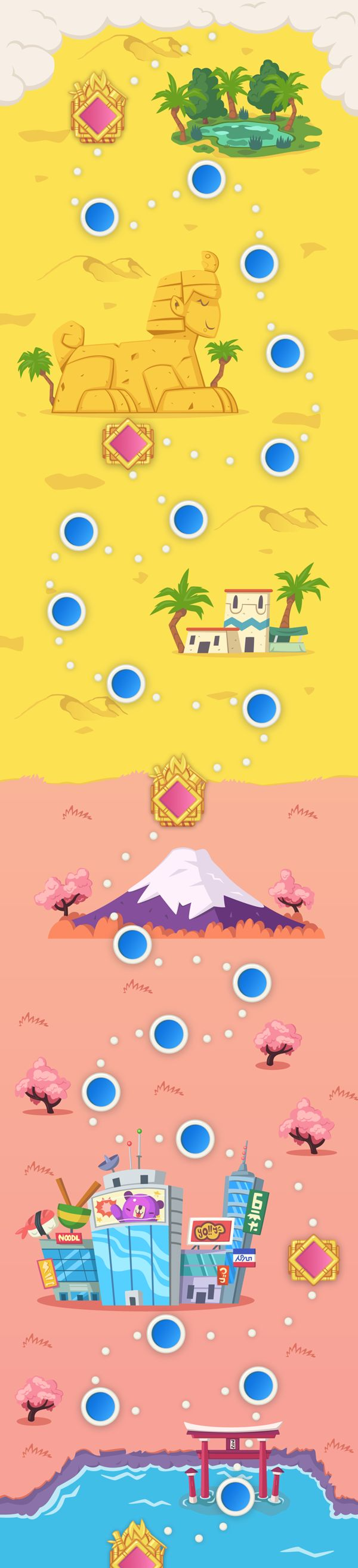 Dr.Newton Mobile Game: World Map by Andreas Polyviou, via Behance