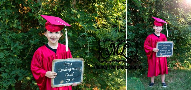 On location Kindergarten Grad, cap and gown photography session! https://www.facebook.com/pages/Mandy-Lee-Photography/113937515377935