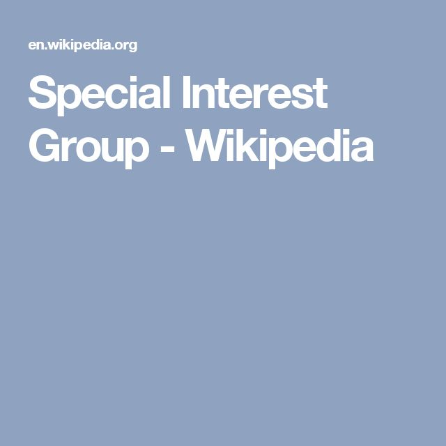 Special Interest Group - Wikipedia