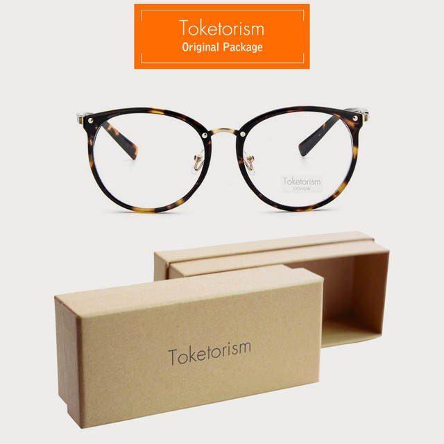 Toketorism Nova moda armações de óculos de ouro das mulheres