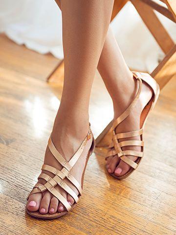 """At Large"" BC Footwear #rosegold #sandals"