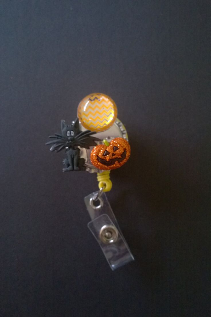 Black Cat and Jack-O-Latern by KatiesReelWorld on Etsy