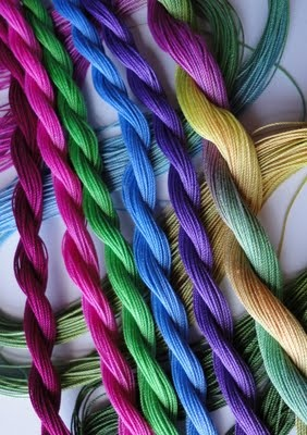 This hand dyed thread is gorgeous!