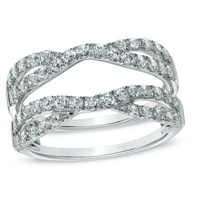 Enhancer jon picked out for me and I love it. 1 CT. T.W. Diamond Twist Split Shank Solitaire Enhancer in 14K White Gold