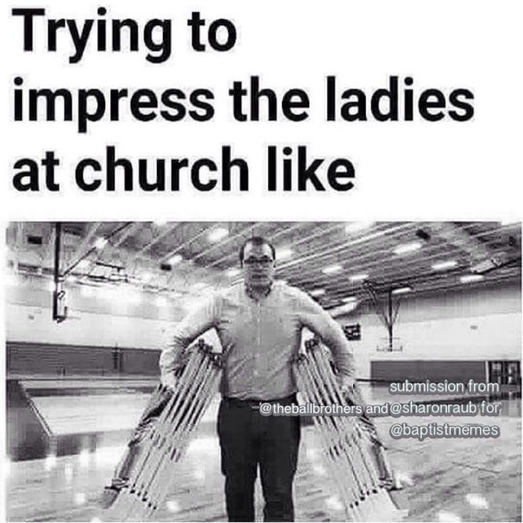 I'm actually on chair pickup duty at my church and sometimes think this ('cept I'm a woman)