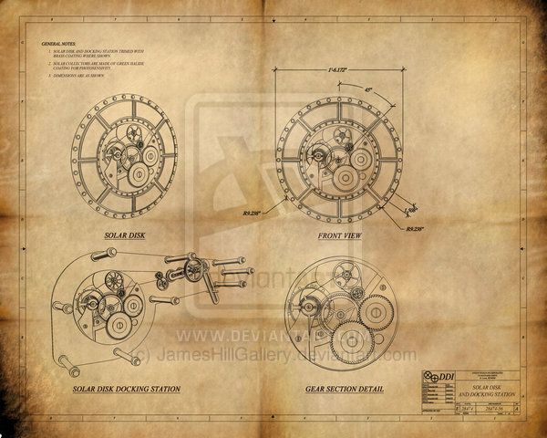 230 best sketch images on pinterest sketches steam locomotive and steampunk solar disk blueprint by jameshillgallery on deviantart malvernweather Gallery