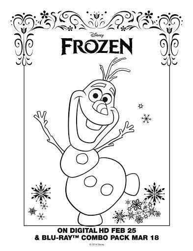 Frozen Colorear Olaf Frozen Para Colorear Dibujos De Frozen Y