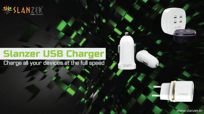 Presenting #USB_Chargers, the smart charging solutions for your smart phones. Get #SLANZER & say bye to your charging woes.