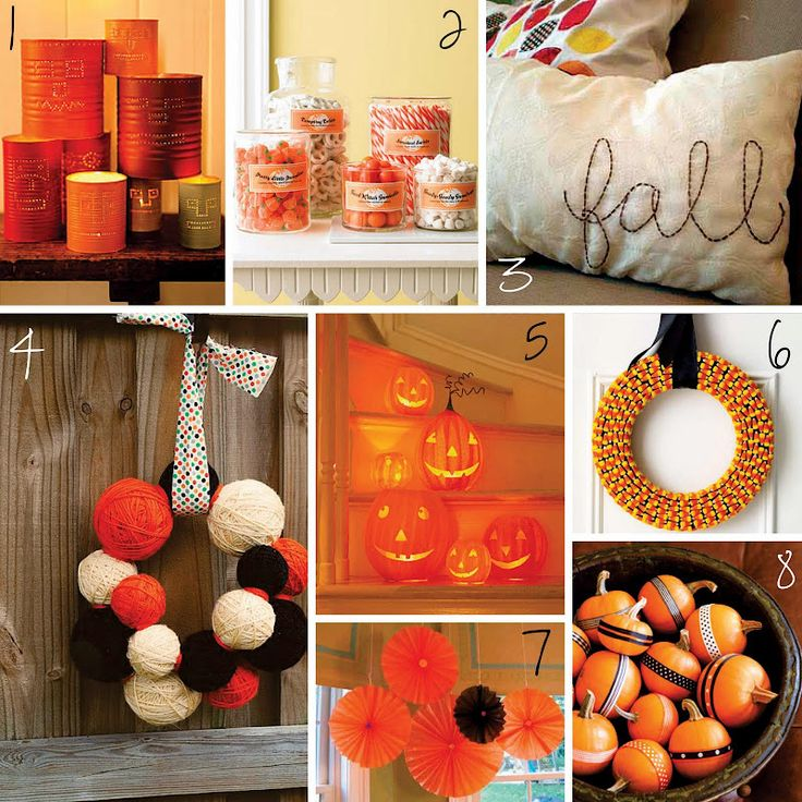 Some lovely links to great DIY fall and Halloween projects. Enjoy! :) 1. Tin Can Jack-o'-Lanterns  2. Candy Jar Treats  (found via Ashlee Pr...