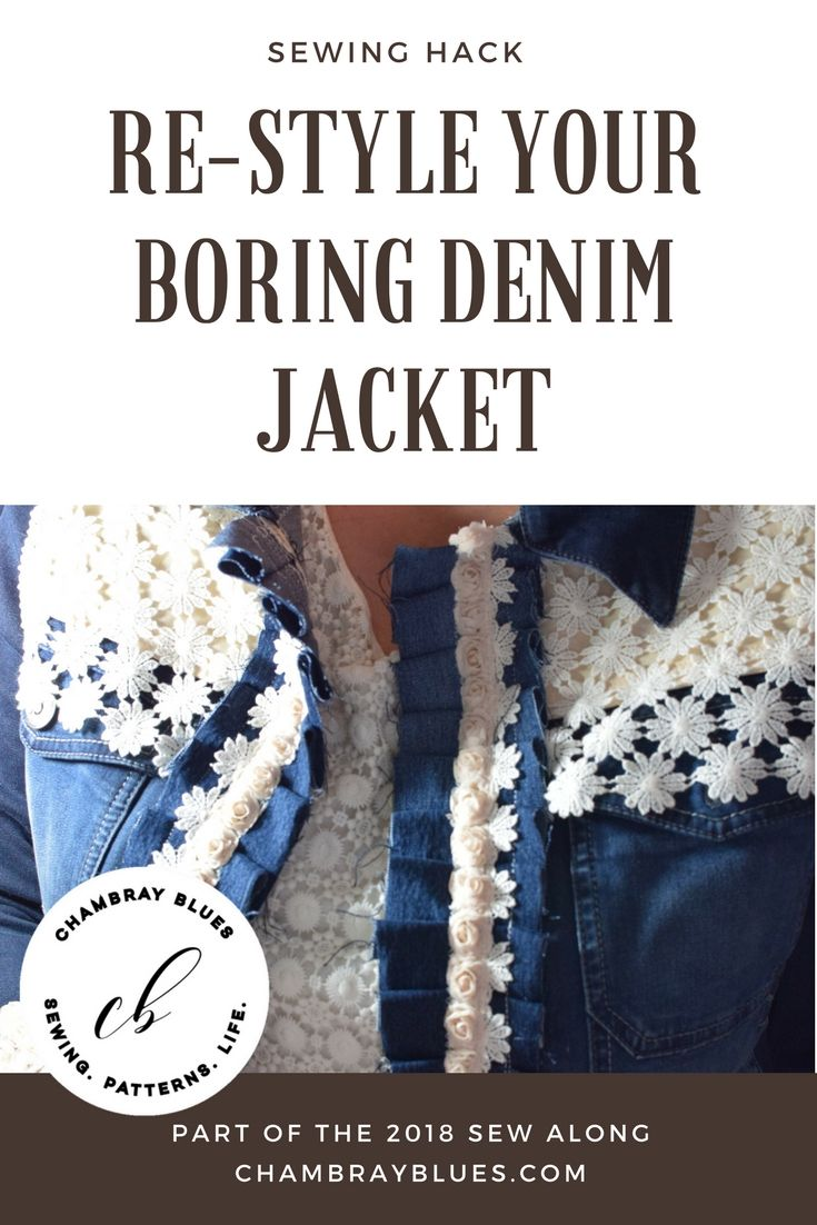 Re-Style Your Denim jacket, easy sewing project|Chambrayblues|chambrayblues.com