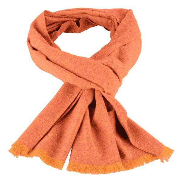 Fringed Mixcolor Knitted Scarf Orange Yellow ($30) ❤ liked on Polyvore featuring accessories, scarves, zaful, orange shawl, orange scarves, fringe scarves, yellow scarves and fringe shawl