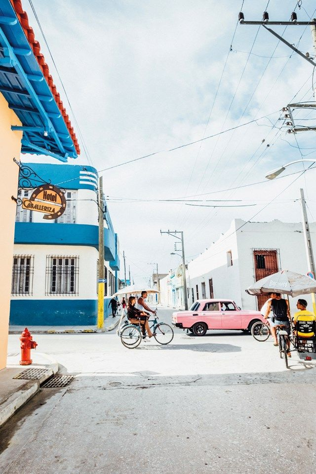 Tuk-tuk-style bici taxis outside Hotel Caballeriza in Holguín | Photo by James Bedford