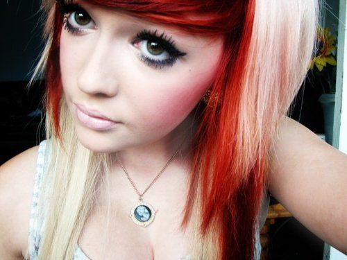 Fabulous 1000 Images About Red And Blonde Hair On Pinterest Demi Lovato Hairstyle Inspiration Daily Dogsangcom