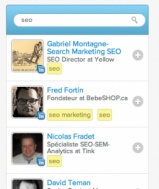 Easily search contacts by keywords