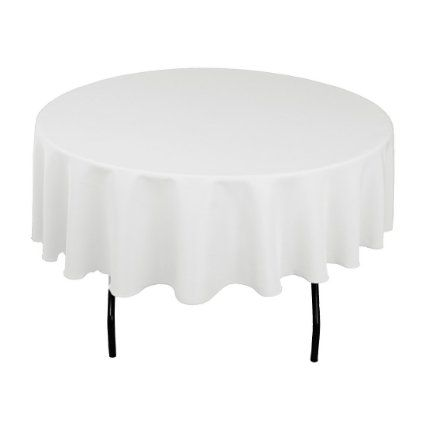 LinenTablecloth 90-Inch Round Polyester Tablecloth White, 2016 Amazon Top Rated Kitchen & Table Linens  #Kitchen