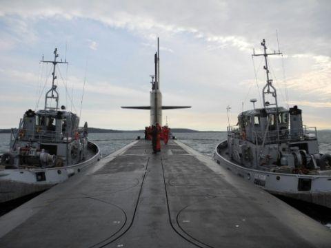 Le sous-marin nucléaire français Le Vigilant près de Brest, en octobre 2016 A mille lieues sous les mers, le silence est d'or 14 novembre 2016