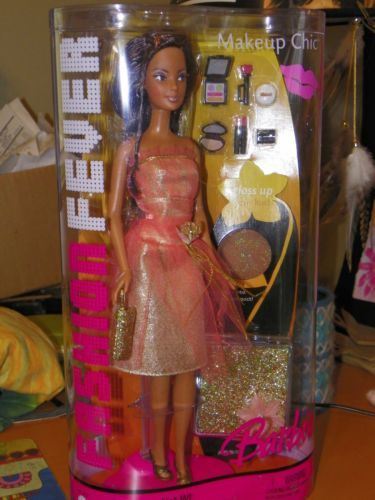 rare  fashion fever barbie makeup chic hispanic doll nrfb
