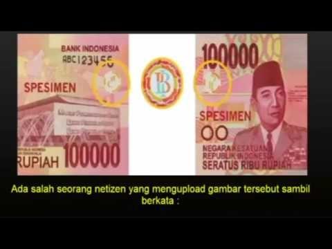GEGER UANG PECAHAN 100RB BARU ADA LAMBANG PALU ARIT...!!!