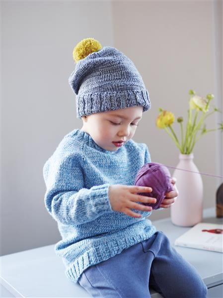 1508: Design 13 Genser og lue #strikk #knit #merino