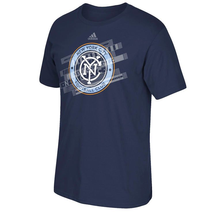 New York City FC adidas Covered Chest T-Shirt - Navy Blue - $19.19