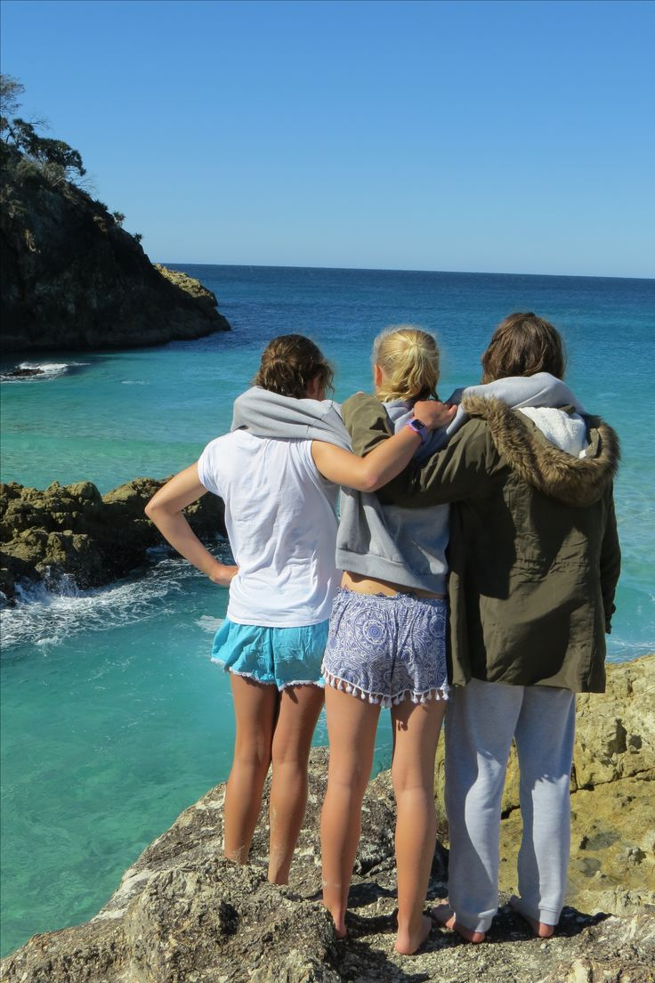 My friends and I in North Stradbroke Island, Queensland, Australia.