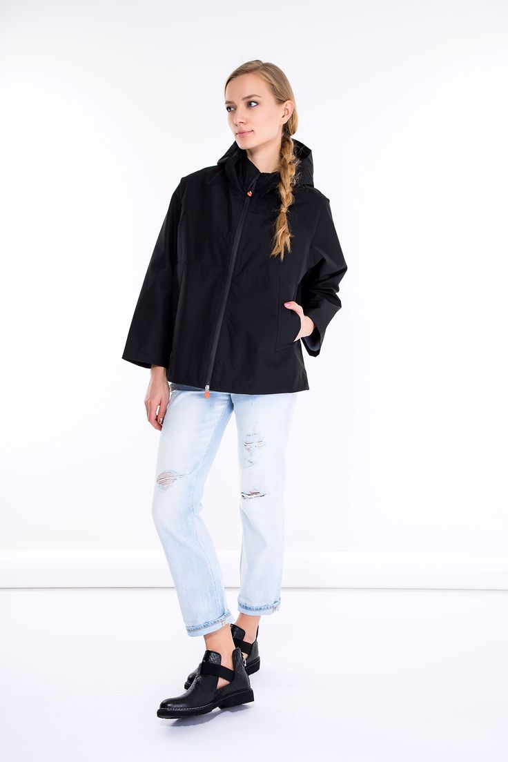 SHOP THE LOOK > #manzetti #mymanzetti #savetheduck #black #jacket #ralphlauren #ripped #jeans #cult #black #boots #woman #fashion #style #ootd #shoponline #rome #store