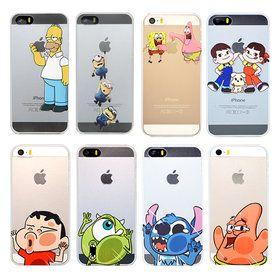 Gmarket - iPhone Character cases / Simpsons / SpongeBob / UV LED...