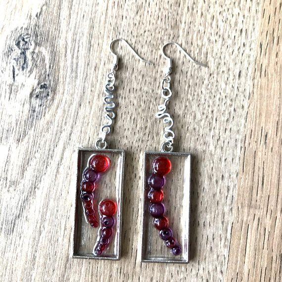 Dots resin earrings