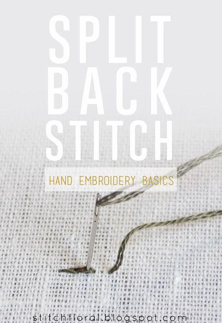Split back stitch tutorial