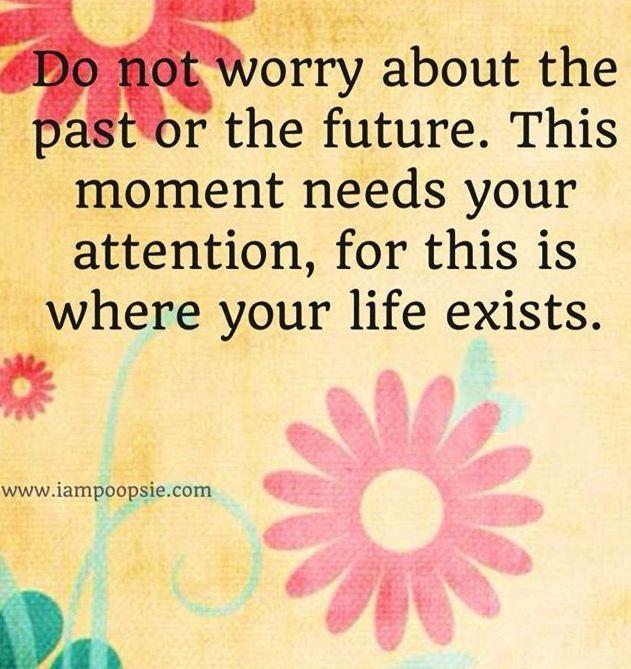 Don't worry quote via www.IamPoopsie.com