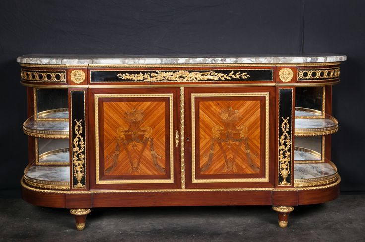 french 19th century louis xvi buffet signed gouverneur. Black Bedroom Furniture Sets. Home Design Ideas