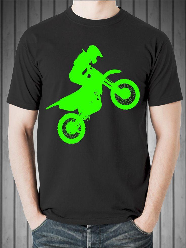 Excited to share the latest addition to my #etsy shop: Dirt Bike Rider Silhouette (Neon Green) Short-Sleeve Unisex T-Shirt http://etsy.me/2AkLKw5 #clothing #shirt #birthdays #motocrosstshirt #dirtbike #tshirt #tee #dirttrack #christmasgift