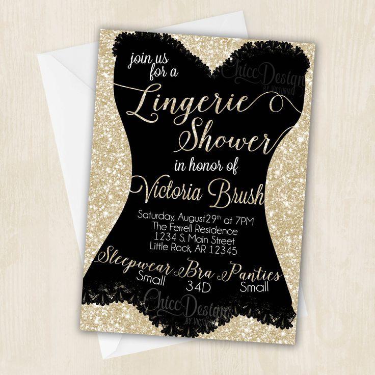 Lingerie Shower Invitation - White Gold - Champagne Color - Digital/Printable Design - pinned by pin4etsy.com - lingerie websites, expensive lingerie, pretty lingerie *sponsored https://www.pinterest.com/lingerie_yes/ https://www.pinterest.com/explore/lingerie/ https://www.pinterest.com/lingerie_yes/lingerie-dress/ https://en.wikipedia.org/wiki/Lingerie