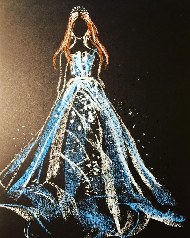 My study of Hodaya Louis' drawing (soft pastels) #softpastels #fashion