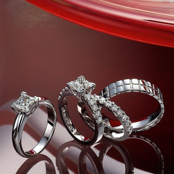 S09p011 White Gold Diamond Rings Jewelry Collection White Gold Wedding Bands