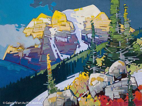 Cameron Bird, 'Temple Morn', 30'' x 40''   Galerie d'art - Au P'tit Bonheur - Art Gallery