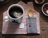 tovaglietta da té - rosso : Cucina e servizi da tavola di pollaz su ALittleMarket