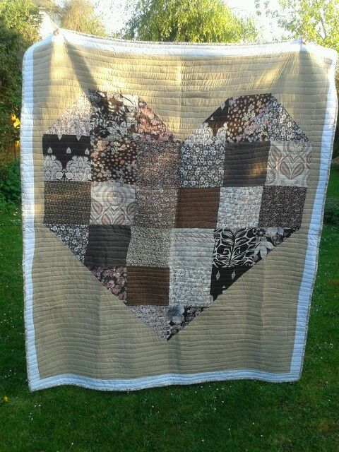Heart quilt for my neice