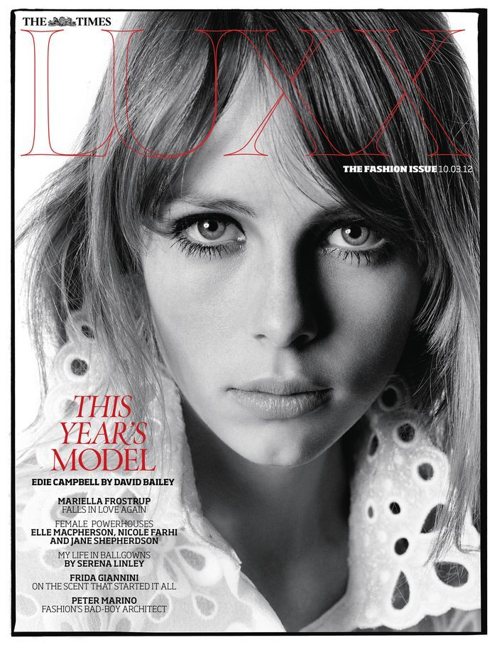 Luxx March 2012 Edie Campbell by David Bailey-