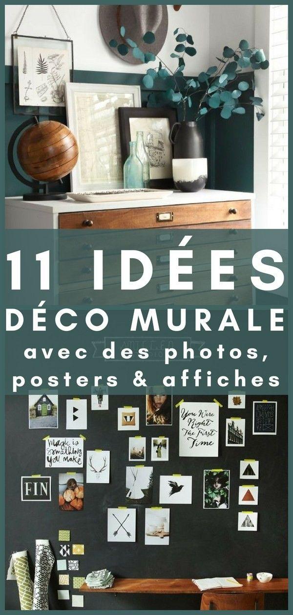 20 Idees De Decoration Murale Simples Tendance Avec Vos Photos Posters Affiches Idee Deco Murale Parement Mural Deco Murale Salon