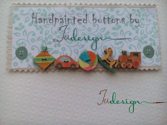 Check out this item in my Etsy shop https://www.etsy.com/listing/470121602/hand-painted-wooden-button-set-little