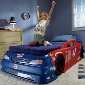 Step 2 Stock Car Bed with Twin Mattress... Just got this for my lil nascar fan!