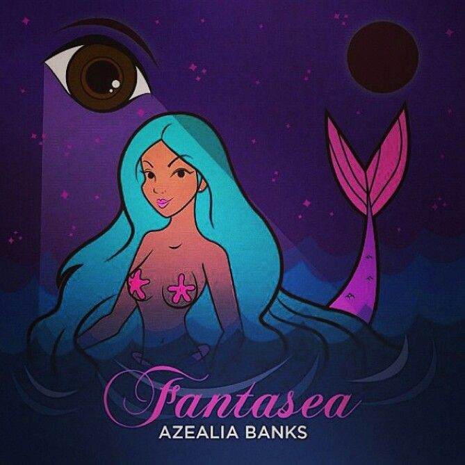 Azealia Banks album cover.  I've never heard her but apparently she's the newest slave for them.